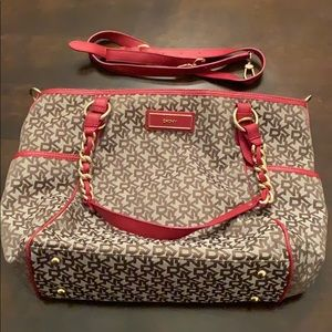 DKNY purse/tote with shoulder strap beautiful red